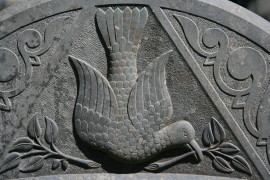 Detail on headstone